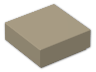 LEGO® Brick: Tile 1 x 1 with Groove (3070b) | Color: Sand Yellow