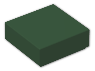 LEGO® Brick: Tile 1 x 1 with Groove (3070b) | Color: Earth Green