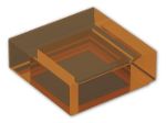 LEGO® Brick: Tile 1 x 1 with Groove (3070b) | Color: Transparent Bright Orange