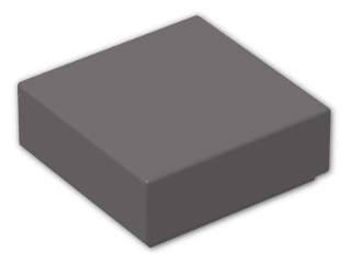 LEGO® Brick: Tile 1 x 1 with Groove (3070b) | Color: Dark Stone Grey
