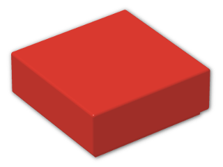 LEGO® Brick: Tile 1 x 1 with Groove (3070b) | Color: Bright Red