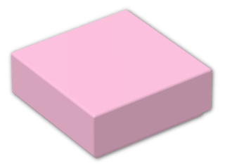 LEGO® Brick: Tile 1 x 1 with Groove (3070b) | Color: Light Purple