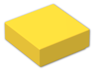 LEGO® Brick: Tile 1 x 1 with Groove (3070b) | Color: Bright Yellow
