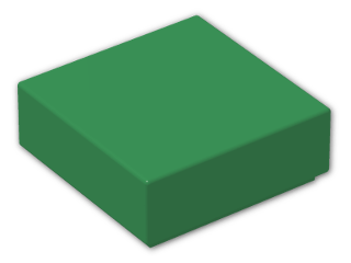 LEGO® Brick: Tile 1 x 1 with Groove (3070b) | Color: Dark Green
