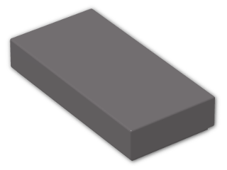 LEGO® Brick: Tile 1 x 2 with Groove (3069b) | Color: Dark Stone Grey