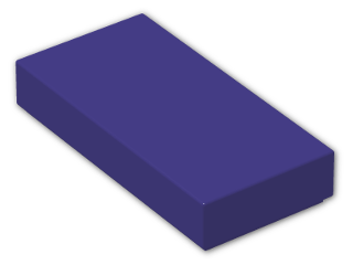 LEGO® Brick: Tile 1 x 2 with Groove (3069b) | Color: Medium Lilac
