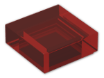 LEGO® Brick: Tile 1 x 1 with Groove (3070b) | Color: Transparent Red