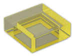 LEGO® Brick: Tile 1 x 1 with Groove (3070b) | Color: Transparent Yellow