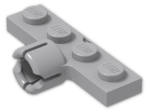 LEGO® Stein: Plate 1 x 4 with Towball Socket     (3183) | Farbe: Medium Stone Grey