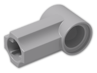 LEGO® Brick: Technic Angle Connector #1 (32013) | Color: Medium Stone Grey