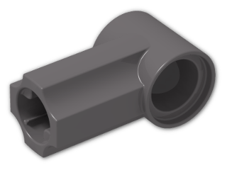 LEGO® Brick: Technic Angle Connector #1 (32013) | Color: Dark Stone Grey