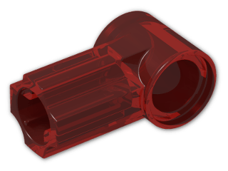 LEGO® Brick: Technic Angle Connector #1 (32013) | Color: Transparent Red