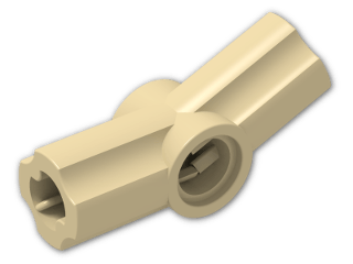 LEGO® Brick: Technic Angle Connector #3 (157.5 degree) (32016) | Color: Brick Yellow