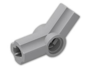 LEGO® Brick: Technic Angle Connector #4 (135 degree) (32192) | Color: Medium Stone Grey