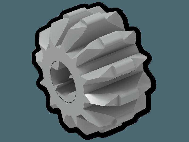2 X Lego Technic 32270 Gear 12 Tooth Double Bevel Black