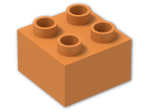 LEGO® Stein: Duplo Brick 2 x 2 (3437) | Farbe: Bright Orange