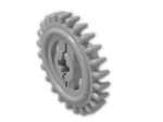 LEGO® Brick: Technic Gear 24 Tooth Crown Type 2 (3650b) | Color: Medium Stone Grey