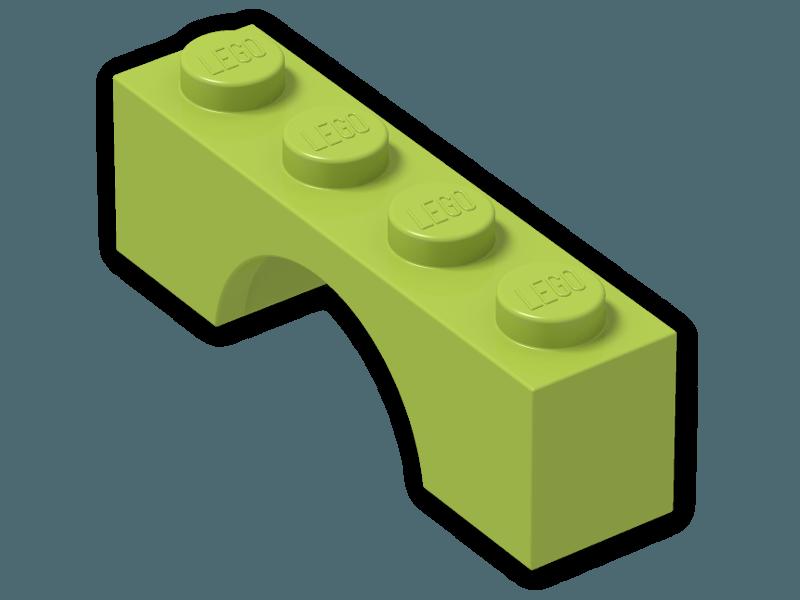 LEGO White  Brick Arch 1 x4 Lot of 4