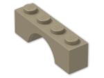 LEGO® Brick: Arch 1 x 4 (3659) | Color: Sand Yellow
