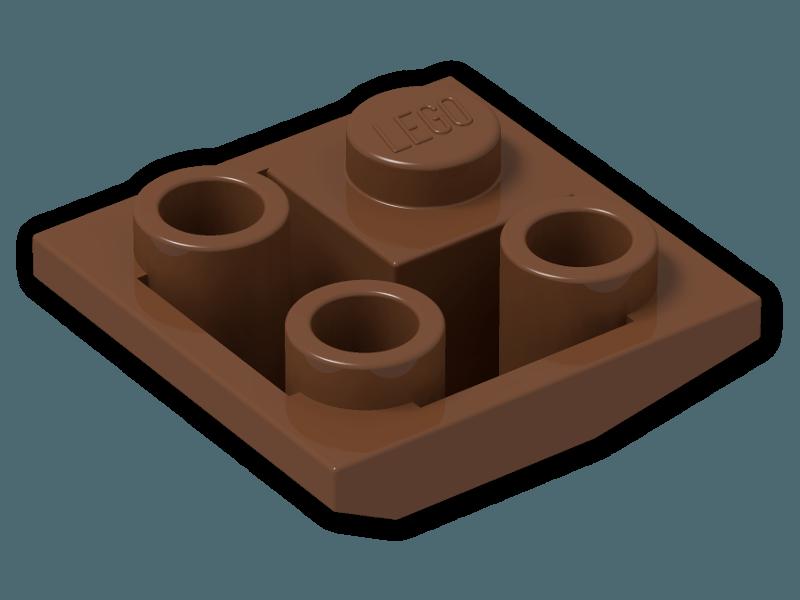 Lego 2 Brown 2x2 double convex slope castle LEGO Building Toys ...