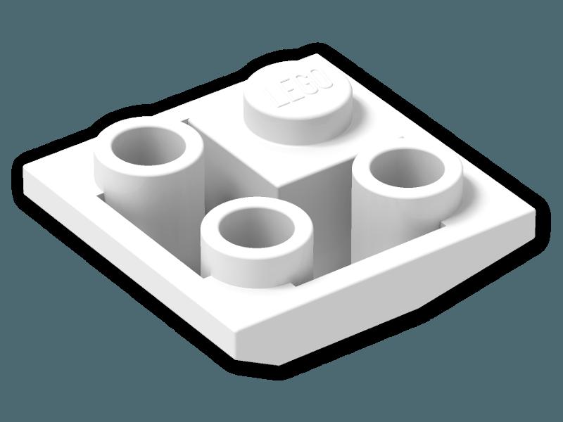 Lego Slope Brick 2x2 Inverted Double Convex Dark Bluish Grey Roof Corner 3676