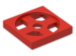 LEGO® Brick: Turntable 2 x 2 Plate Base (3680) | Color: Bright Red