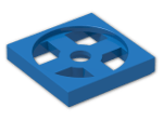 LEGO® Brick: Turntable 2 x 2 Plate Base (3680) | Color: Bright Blue