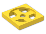 LEGO® Brick: Turntable 2 x 2 Plate Base (3680) | Color: Bright Yellow
