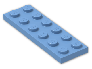 LEGO® Stein: Plate 2 x 6 (3795) | Farbe: Medium Blue