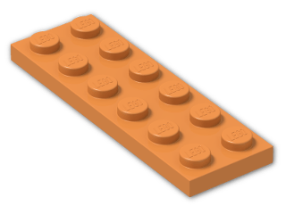 LEGO® Stein: Plate 2 x 6 (3795) | Farbe: Bright Orange