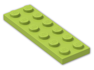 LEGO® Stein: Plate 2 x 6 (3795) | Farbe: Bright Yellowish Green