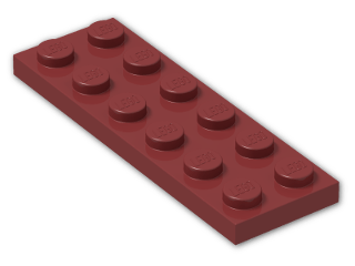 LEGO® Brick: Plate 2 x 6 (3795) | Color: New Dark Red