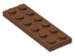 LEGO® Brick: Plate 2 x 6 (3795) | Color: Reddish Brown