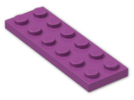 LEGO® Brick: Plate 2 x 6 (3795) | Color: Bright Reddish Lilac