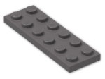 LEGO® Brick: Plate 2 x 6 (3795) | Color: Dark Stone Grey