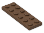 LEGO® Brick: Plate 2 x 6 (3795) | Color: Brown