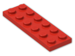 LEGO® Brick: Plate 2 x 6 (3795) | Color: Bright Red