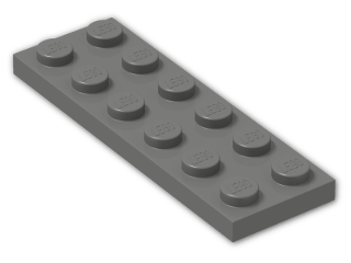LEGO® Brick: Plate 2 x 6 (3795) | Color: Dark Grey