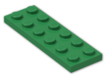 LEGO® Brick: Plate 2 x 6 (3795) | Color: Dark Green