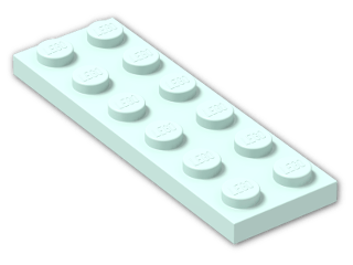 LEGO® Brick: Plate 2 x 6 (3795) | Color: Aqua