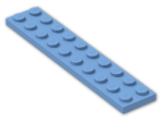 LEGO® Brick: Plate 2 x 10 (3832) | Color: Medium Blue