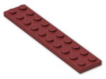 LEGO® Brick: Plate 2 x 10 (3832) | Color: New Dark Red