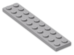 LEGO® Brick: Plate 2 x 10 (3832) | Color: Medium Stone Grey