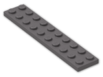 LEGO® Brick: Plate 2 x 10 (3832) | Color: Dark Stone Grey