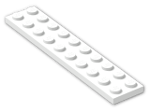 LEGO® Brick: Plate 2 x 10 (3832) | Color: White