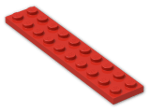 LEGO® Brick: Plate 2 x 10 (3832) | Color: Bright Red
