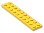 LEGO® Brick: Plate 2 x 10 (3832) | Color: Bright Yellow