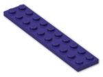 LEGO® Brick: Plate 2 x 10 (3832) | Color: Medium Lilac
