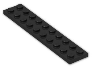 LEGO® Brick: Plate 2 x 10 (3832) | Color: Black