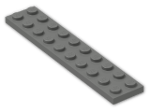 LEGO® Brick: Plate 2 x 10 (3832) | Color: Dark Grey